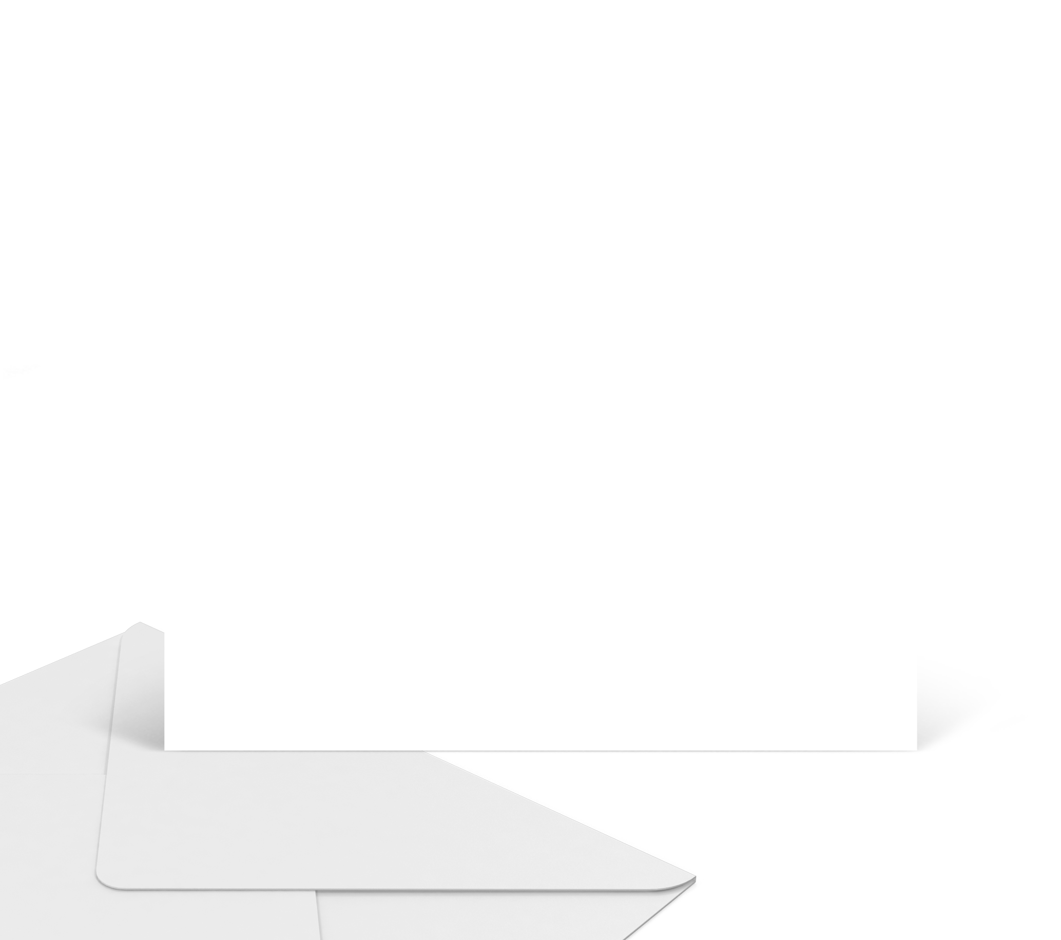 Mockup carte enveloppe bleu